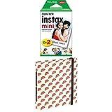 Fujifilm Mini Instax Film Doppelpack (2 x 10 Mini Instant Film) + Mini Fotoalbum 'Melons'