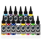 Tattoofarbe Set 14 Komplettfarben Pigment Kit 30ml Tattoobedarf 14 Grundfarben Microblading Pigment Set