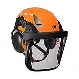 3M Pro Forsthelm Arborist-Helm mit Kettensägen-Helm, mit Kinnriemen, Komfort-Ohrenschutz und HD-Metall-Netz-Visier