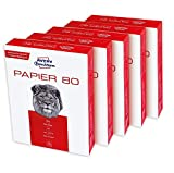 Avery Zweckform 2575 Drucker-/Kopierpapier (2.500 Blatt, 80 g/m², DIN A4 Papier, für alle Drucker) 1 Box mit 5 Pack, weiß