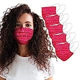 Blingko Mundschutz Erwachsene Mund- & Nasenschutz Waschbar Atmungsaktive Staubschutz Verstellbarer Nasenbügel und Filtertasche Wiederverwendbar Multifunktionstuch