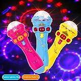 Lmfu Blinkende Projektor Mikrofon Modell Beleuchtung Spielzeug Drahtlose Musik Karaoke Micro Kinder Spielzeug Geschenk Kreative Lustige Dynamische Glanz Neue lmfu