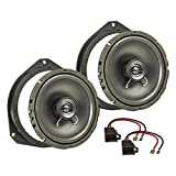 tomzz Audio 4039-006 Lautsprecher Einbau-Set passend für Opel Astra H Corsa D Corsa E 165mm Koaxial System TA16.5-Pro