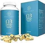 Brainvincible Premium Qualität Norwegisches Omega 3 Fischöl Kapseln - Hergestellt in Deutschland - 1000 mg pro Tagesdosis - Laborgeprüft für höchste Reinheit