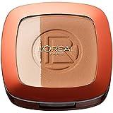 L'Oréal Paris Make Up Glam Bronze Duo Sun Powder, 101 Blonde Harmony - 2 in 1 Bronzepuder für den Sommer-gebräunten Look - für helle Hauttypen, 1er Pack (1 x 9 g)