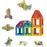 Condis Magnetische Bausteine 42 Teile Magnetspielzeug Magnete Kinder Magnetbausteine Magnet Spielzeug Kinder Magnetspiele für Kinder Kinderspielzeug Puzzle Geschenk ab 3 4 5 6 7 Jahre Junge Mädchen