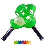 Scoopball Spiel, Geschicklichkeitsspiel, Fangspiel, Scoopball Set, Fangballspiel, Outdoor, Garten, Rasen, Party Spielzeug, Wurfspiel, Kindergeburtstag