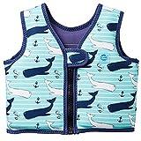 Splash About Kinder Schwimmhilfe Jacke, Blau (Vintage Moby), Gr. 2-4 Jahre