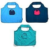 meori 3er-Pack Designs (Aqua, Midnight, Azurblau, Punkte) Spar-Set, langlebig, wiederverwendbar, blau Sortiert