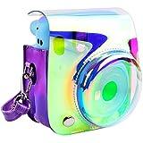 Schutzhülle und tragbare Tasche Kompatibel mit Fujifilm Instax Mini 11 Sofortbildkamera mit Zubehörtasche und verstellbarem Gurt. (Shining Purple)