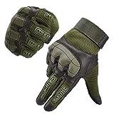 Neusky Herren Taktische Handschuhe Touchscreen Fahrrad Handschuhe Motorradhandschuhe MTB Handschuhe Mountainbike Handschuhe Outdoor Sport Handschuhe Ideal für Airsoft, Militär, Paintball (M, Grün)