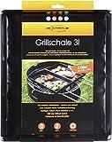 Grillschale 28x35x4cm   Wiederverwendbare Auflaufform für Elektrogrill, Camping Grill & Holzkohlegrills mit Antihaftbeschichtung   Grill Zubehör