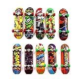 Reastar Finger Skateboard 10pcs Professionelle Mini Fingerboards Skatepark Spielzeug für Kinder Spielen Oder ALS Finger Skateboard Dekoration