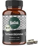 Schwarzkümmel Bio Kapseln 150 Stück - 600mg je Kapsel Schwarzkümmelpulver aus Ägypten - Nigella sativa - 100% vegan - biologischer Anbau - hergestellt und kontrolliert in Deutschland (DE-ÖKO-005)
