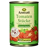 Alnatura Bio Tomatenstücke Kräuter, vegan, 12er Pack (12 x 400 ml)