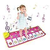 BelleStyle Musical Teppich, Baby Musical Piano Spielteppich Matte Musikinstrument Spielzeug Touch Spiel Keyboard Gym Play Mat für Kinder (Lila)