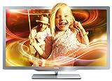 Philips 37PFL7606K/02 94 cm (37 Zoll) Ambilight 3D LED-Backlight-Fernseher (Full-HD, 400 Hz PMR, DVB-T/C/S, Smart TV) silbergrau