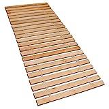 Betten-ABC Premium Rollrost, Stabiles Erlenholz, mit 23 Leisten und Befestigungsschrauben Größe 160x200