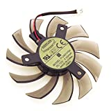iHaospace T128010SM 12V 0.2A 2Pin 75mm Grafikkartenlüfter for Gigabyte N470SO N580UD N580SO GTX460 GTX470 GTX580 HD5870 Cooling Fan