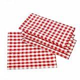 Landhaus Tischdecken in Karo - Farbe und Größe wählbar - 100% Baumwolle (100x140 cm, rot-weiß kariert)