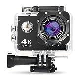 NEXGADGET 4K WiFi Action Kamera, 16MP wasserdichte Sportkamera Actioncam Helmkamera mit 2 Stück Wiederaufladbare Batterien 170° Ultra Weitwinkel