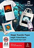 Transferpapier/Bügelpapier/Transferfolie für HELLE Textilien/Stoffe von Raimarket | 5 Blatt | A4 Inkjet Bügeleisen auf Papier / Transferfolie / T-Shirt-Transfers | Textilefolien | DIY Stoffdruck (5)