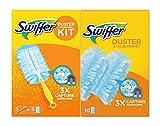 Swiffer Staubmagnet Starterset (Griff + 15 Tücher) Staubwedel ideal gegen Staub, Tierhaare & Allergene