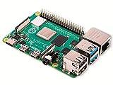 Raspberry Pi 4 Modell B 4GB, ARM-Cortex-A72 4 x, 1,50GHz, 4GB RAM, WLAN-ac, Bluetooth 5, LAN, 4 x USB, 2 x Micro-HDMI