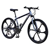 ererthome Mountainbike, 26 Zoll Carbon Steel Mountainbike, 21-Gang Rennrad Fahrrad Vollfederung MTB Erwachsenenfahrrad,Studentenfahrrad,Fahrrad,Cityräder (Black)