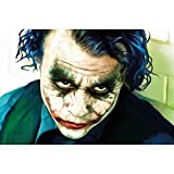 GREAT ART Fototapete – Joker – Wandbild XXL Comic Dekoration DC Universe The Dark Knight Batman Schurke Poster Heath Ledger Filmplakat Bild Wallpaper Foto-Tapete Wandtapete (210 x 140 cm)