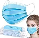 Moon-Valley 50 Stück Mundschutz Maske 3-lagig Mundschutz Staubmaske Gesichtsmaske Einwegmaske Staub schutzmasken Atmungsaktiv Atemschutz Gesichtschutz
