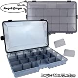 Angel-Berger Pro Tackle Box Zubehörbox Köderbox wasserdicht (Medium)