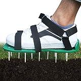 Rasenbelüfter Rasenlüfter Vertikutierer Rasen Vertikutierer Rasen Nagelschuhe mit 3 Verstellbare Gurte und Metal,Universalgröße passt Schuhe oder Stiefel für Rasen Hof