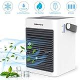 Manwe Luftkühler Mini Klimaanlage Persönliche Air Cooler Cube Mobiles klimagerät Mobil Tragbar USB Verdunstungskühler Mit Wasserkühlung, 3 Geschwindigkeiten, Ideal für Zuhause und Büro