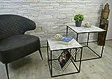Livitat® Satztisch 2er Set Couchtisch Beistelltisch Metall Vintage Retro Loft LV5050