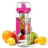OMORC Wasserflasche, [BPA-frei Tritan] Kunststoff Trinkflasche Sport Flasche 1L Sportflasche Auslaufsicher, Trinkflaschen mit Verschluss & Tragehenkel für Fruchtschorlen/Gemüseschorlen