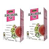 Vedda Slim 1 Tee (neue Verpackung) Original Formula, Abnehmen Abnehm Entgiftung Fatburner Gewichtsverlust Diät Detox Reinigung Tee, Grüner Lotus und Sennesblätter Teeblätter, 40 Teetassen, 100g