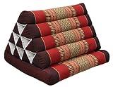 Wilai Kapok Thaikissen, Dreieck mit Einer Auflage (82301 - weinrot/rot)