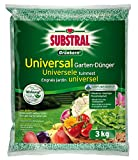Substral Grünkorn Universal, Hochwertiger, nitratfreier Gartendünger für Blumen, Sträucher, Koniferen, Gemüse, Obst und Rasen mit langanhaltender Wirkung, 3 kg Sack