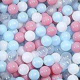 harupink 100 Stück Bälle für Bällebad, Pool Plastikbälle Kinder Babybälle Bunte Pit Balls Ozean Bälle Spielbälle für Kinder Tunnel Zelt Schwimmen Spielzeug Kinderspielzeug