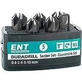 ENT 26516 DURADRILL 5-tlg Aufsteckversenker-Set HSS, Durchmesser (d) 4, 5, 6, 8 und 10 mm, e 90°, Rechts