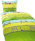 Bierbaum Jack Biber Bettwäsche 135x200cm 2 TLG. Kinder Fußball Designed by