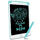 Richgv LCD-Schreibtafel, magnetische LCD-Zeichenbrettplatte für Kinder und Erwachsene 10-Zoll-tragbare Digitale Schreibtafel, abnehmbare handschriftliche Gekritzel-Schreibtafel mit Stift (blau) …