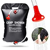 FRGHF Solardusche, 20L Solar Campingdusche Camping Dusche Tasche Shower Wassersack Gartendusche kompakt Warmwasser Duschsack, Outdoor Reisedusche Mit Duschkopf Schlauch für Wandern und Camping