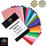 OfficeTree® Seidenpapier 300 Blatt A4 - bunt 20 Farben - mehr Spaß am Basteln Gestalten Dekorieren - Skizzen- und Zuschnitt-Papier - 16 g/qm Premium-Qualität