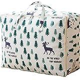 Aufbewahrungstasche Für Bettdecken Und Kissen - Kleidung Lagerplätze, Decken Organisator Lagerbehälter, Haus Bewegen Tasche Geschützt (Color : Blue, Size : 70x50x30cm)