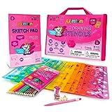 Mimtom Malschablonen für Kinder und Mädchen | 51-teiliges Bastel Schablonen Set mit über 270 Formen, um die Kreativität Ihres Kindes zu entfesseln | Kindersicheres Lernspielzeug für Kinder ab 4 Jahren