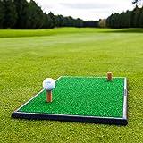 FORB Start Golfübungsmatte (2-in-1 Fairway/Rough) (60cm x 30cm) – Üben wie die Profis mit Dieser tragbaren Mini-Fairway und Rough Abschlagmatte (Fairway)