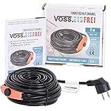 8m Frostschutz Heizkabel mit Knopf-Thermostat VOSS.eisfrei, 230V, Heizleitung Zum Schutz von Wasserleitungen und Weidetränken