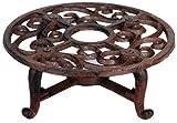 Esschert Design Stövchen, Warmhalteplatte im antik Design, aus Gusseisen, in braun, ca. 19 cm x 19 cm x 7,1 cm